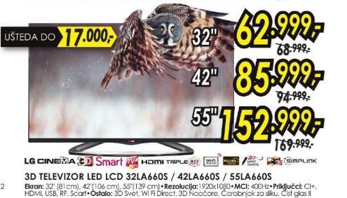 Televizor LED LCD 42LA660S