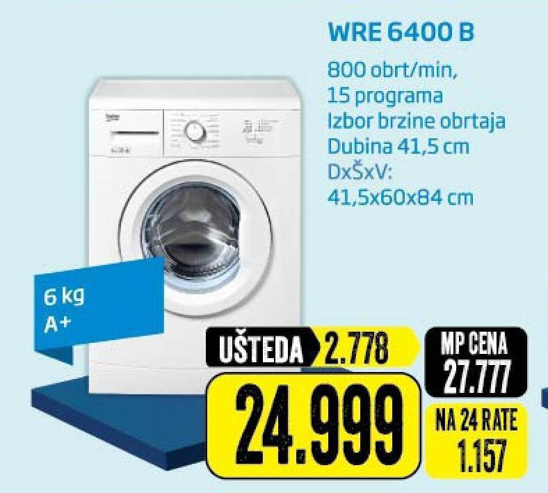 Mašina za pranje veša WRE6400B