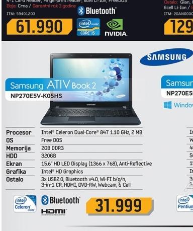 Laptop  NP270E5V-K05HS