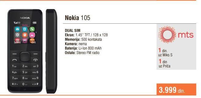Mobilni telefon 105 DS