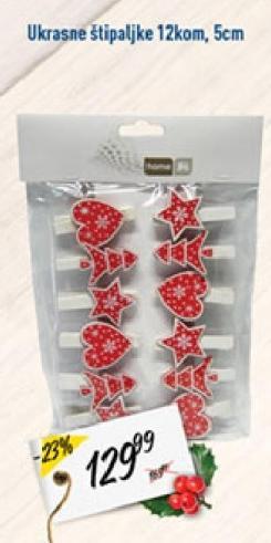 Novogodišnji ukras štipaljke
