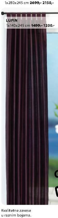 Zavesa Lupin 1x140x245cm