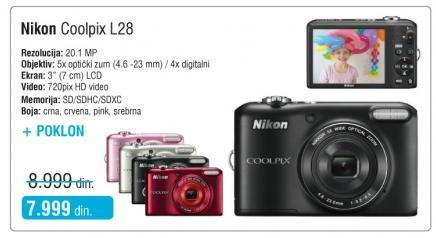 Digitalni fotoaparat Coolpix L28