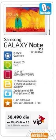 Mobilni Telefon GALAXY Note 10.1