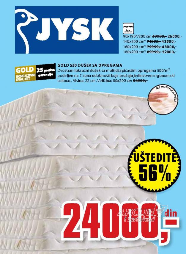 Dušek, Gold S50 90x190/200 cm