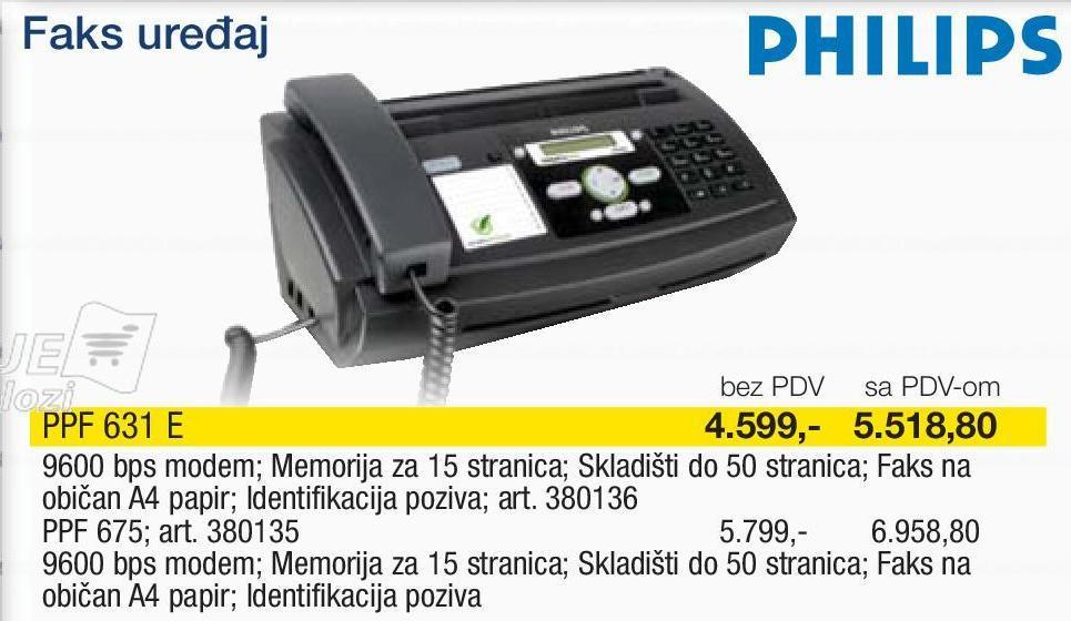 Fax Uređaj PPF 675