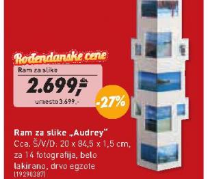 Ram za slike Audrey