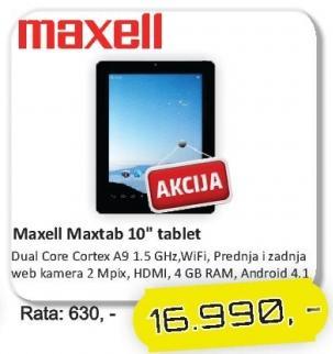 """Tablet Maxtab 10"""""""
