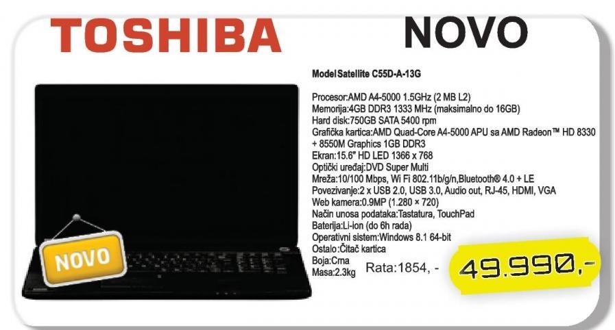 Laptop Satellite C55d-A-13g