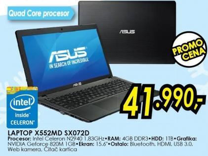Laptop X552md Sx072d