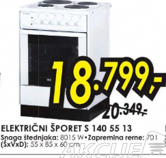 Šporet S 140 55 13
