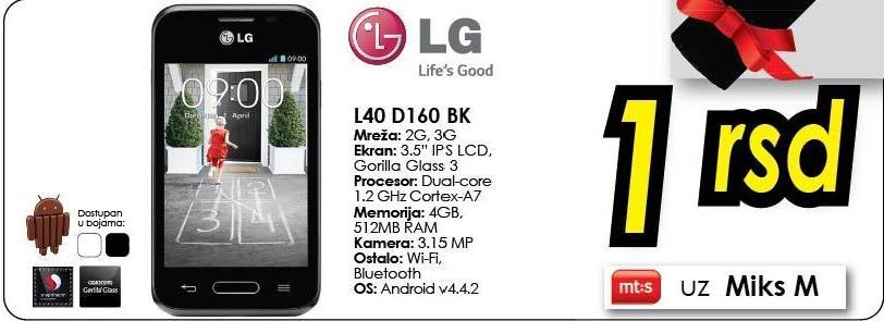 Mobilni telefon L40 D160 Bk