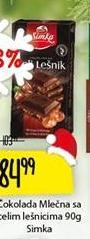 Čokolada seckani lešnik