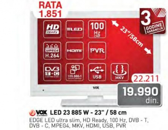 Televizor LED  23 885 W