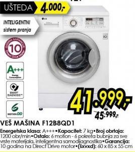 Mašina za pranje veša F12b8qd1
