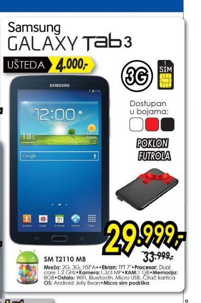 Tablet Galaxy Tab 3 SM-T2110 GR