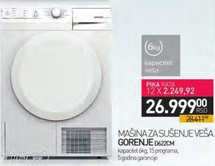 Mašina za sušenje veša D622cm