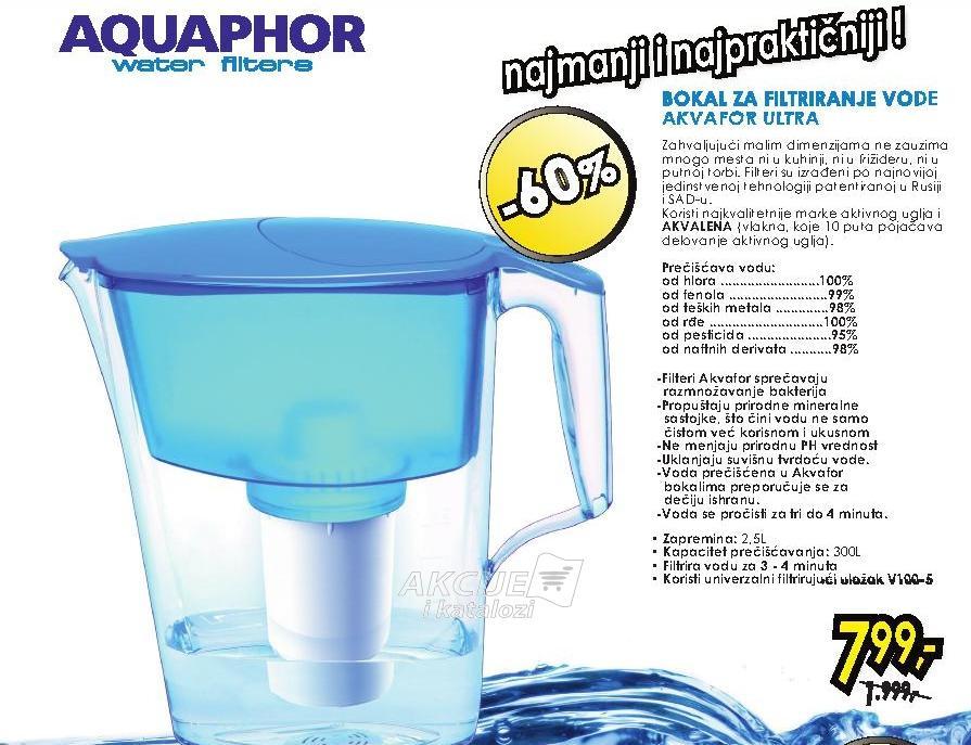 Bokal za filtriranje vode Ultra