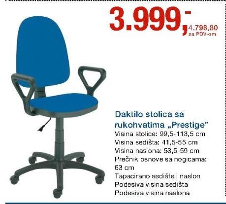 Daktilo stolica Prestige