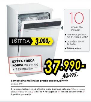 Samostalna mašina za pranje sudova