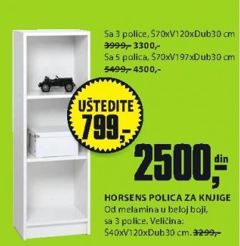 Polica za knjige Horsens 70x197x30