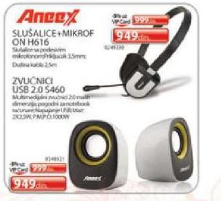 Slušalice + mikrofon H616