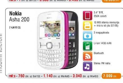 Mobilni Telefon 200 Asha