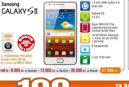 Mobilni telefon i9100 Galaxy S II