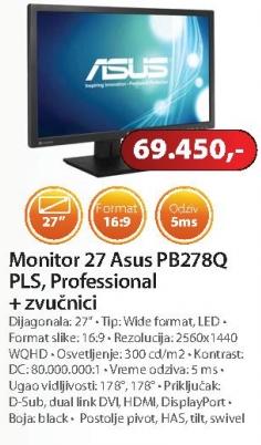 Monitor 27 PB278Q PLS, Professional + zvučnici