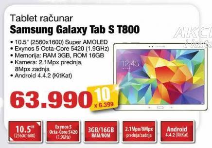 Tablet Galaxy Tab S T800