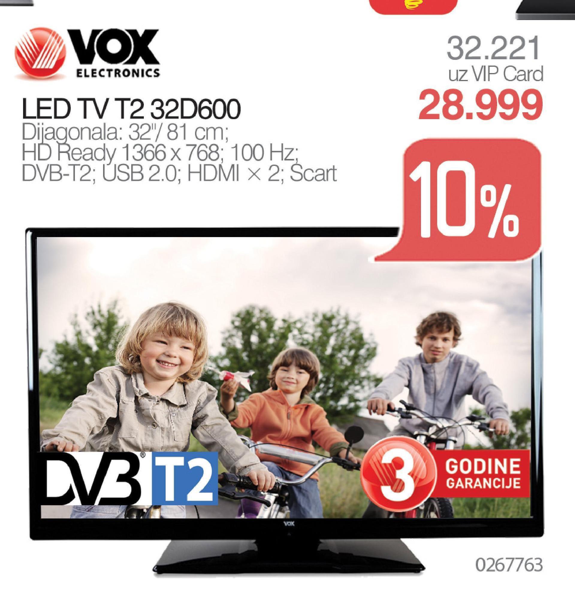 """Televizor LED 32""""  T2 32d600"""