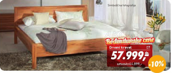 Drveni krevet Olivia