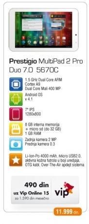 Tablet Multipad 2 Pro Duo 7.0 5670C
