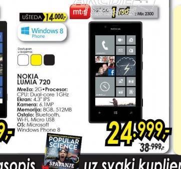 Mobilni telefon LUMIA 720 BK