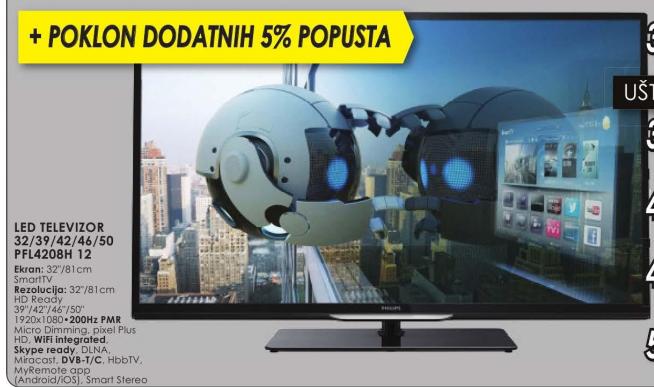 Televizor LED Philips 42PFL4208H 12 + Poklon dodatnih 5% popusta