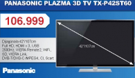 3D Plazma Televizor TX-P42ST60