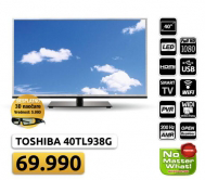 "3D LED TV Toshiba 40"" 40TL938G Full HD+ poklon+3D naočare"