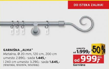 Garnišna Alma 120cm