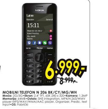 Mobilni telefon N 206 BK