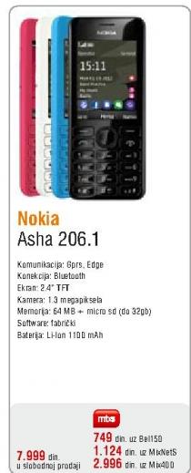 Mobilni telefon Asha 206.1