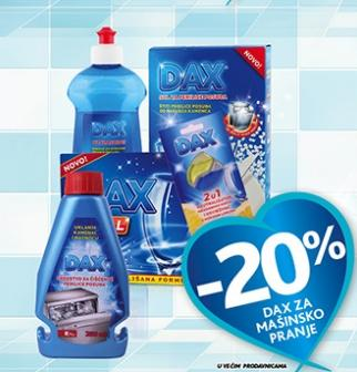 -20% na Dax za mašinsko pranje