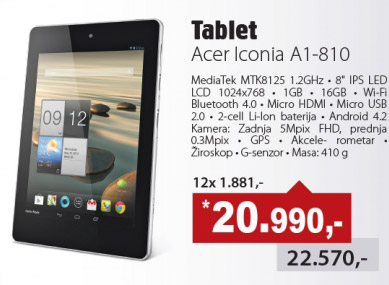 Tablet Iconia A1-810