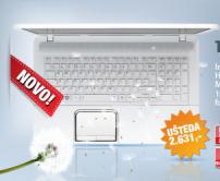 "Laptop Satellite C855-241 White 15.6"""