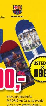 FC Barcelona/ Real Madrid vreća za spavanje