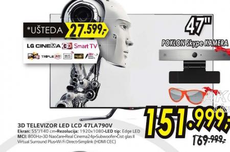 Televizor 3D  LED LCD 47LA790V