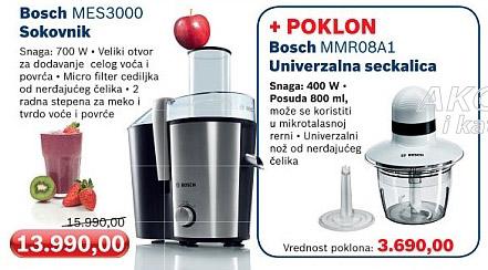Sokovnik MES3000 + poklon Bosch univeryalna seckalica MMR08A1