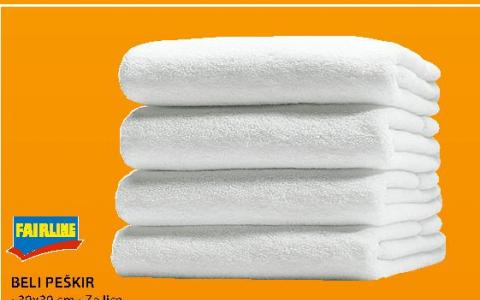 Beli peškir 30x30cm