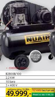 Klipni kompresor B2800b/100 Nuair