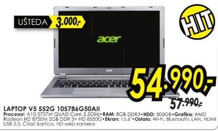 Laptop AspireV5 552g 105786g50aii