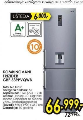 Frižider kombinovani GBF 539PVQWB